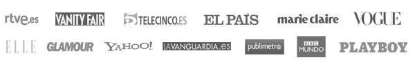 rtve.es, Vanity F, Telecinco.es, El Paíss, Marie Claire, Vogue, Glamour, Yahoo!, Lavanguardia.es, publimetro, BBC Mundo, Playboy